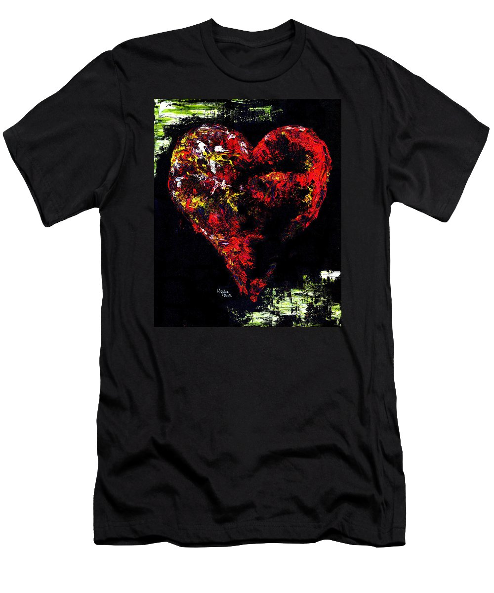 Heart Men's T-Shirt (Athletic Fit) featuring the painting Passion by Hiroko Sakai