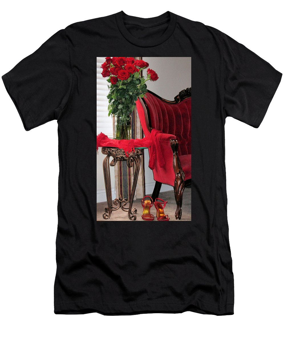 Valentine Men's T-Shirt (Athletic Fit) featuring the photograph Passionate Afternoon by Kristin Elmquist