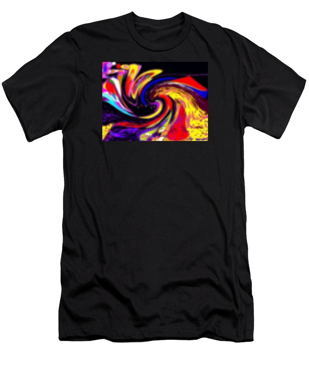 Abstract Men's T-Shirt (Athletic Fit) featuring the digital art Pastel Voyager by Ian MacDonald