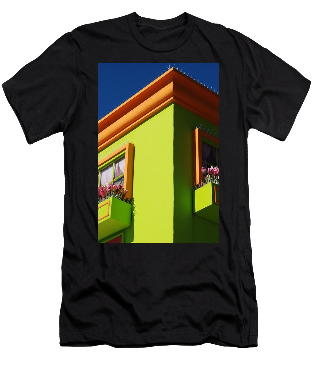 Sky Men's T-Shirt (Athletic Fit) featuring the photograph Pastle Corners by Rob Hans