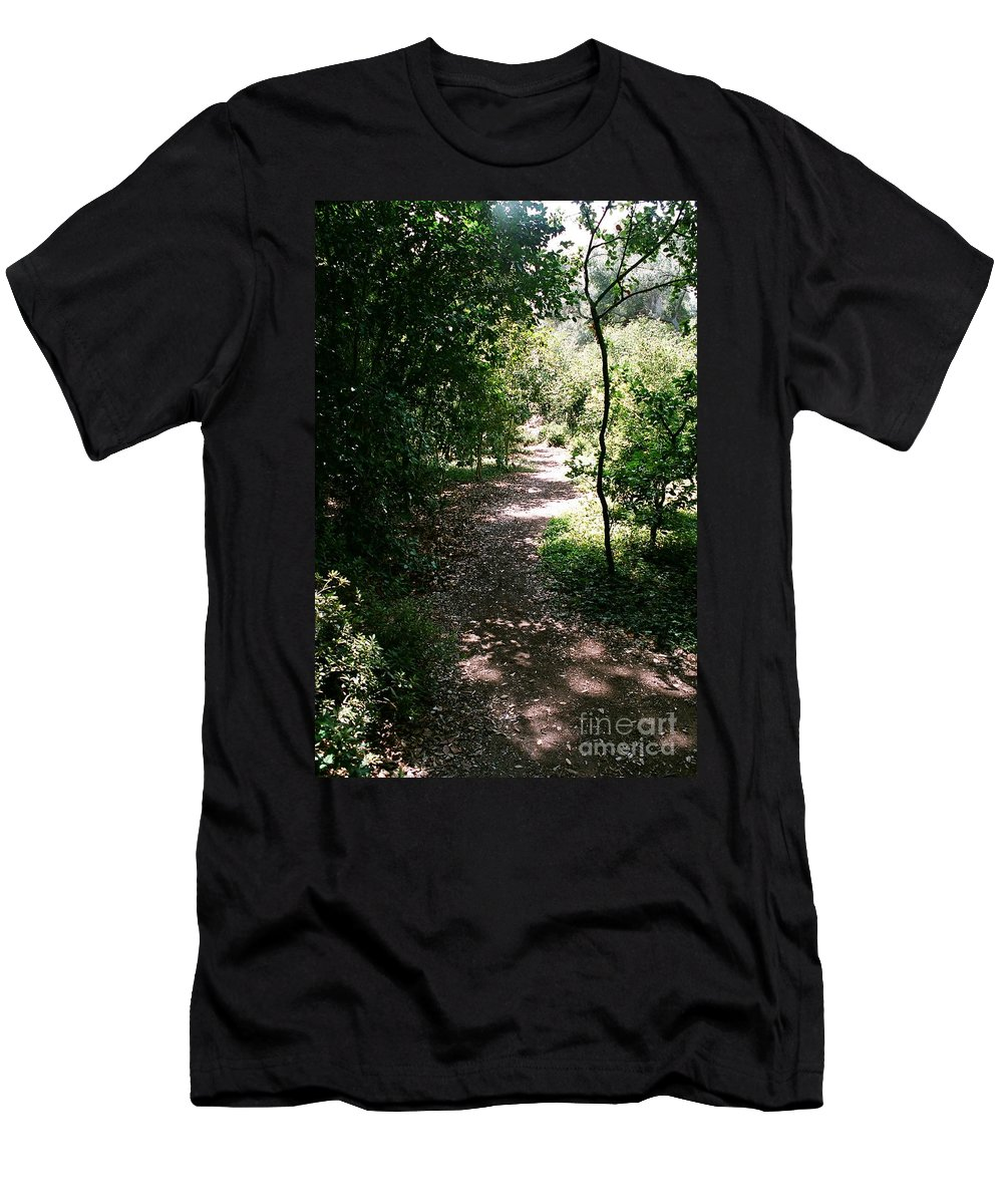 Path Men's T-Shirt (Athletic Fit) featuring the photograph Path by Dean Triolo