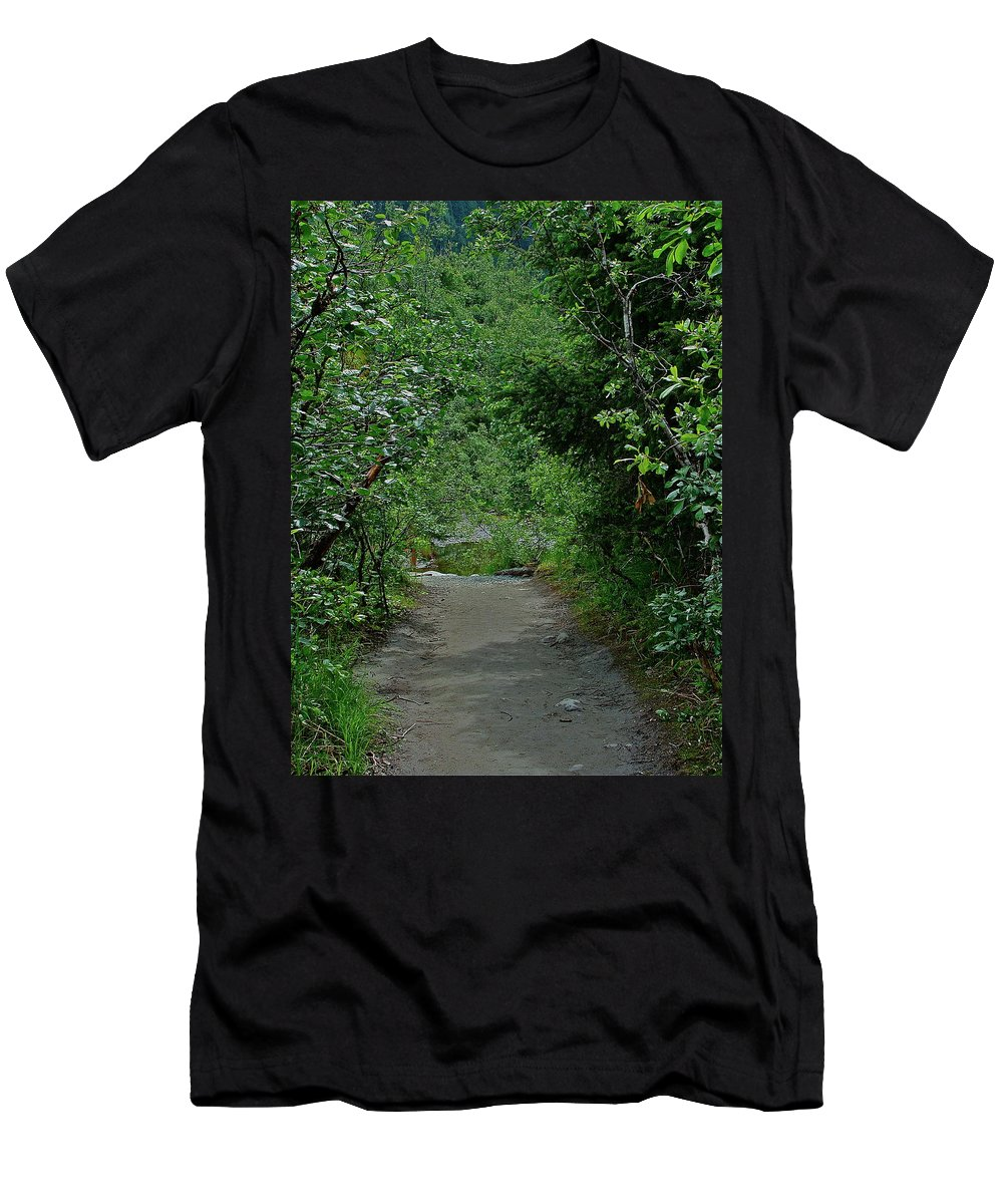 Path Men's T-Shirt (Athletic Fit) featuring the photograph Path To Adventure by Diana Hatcher