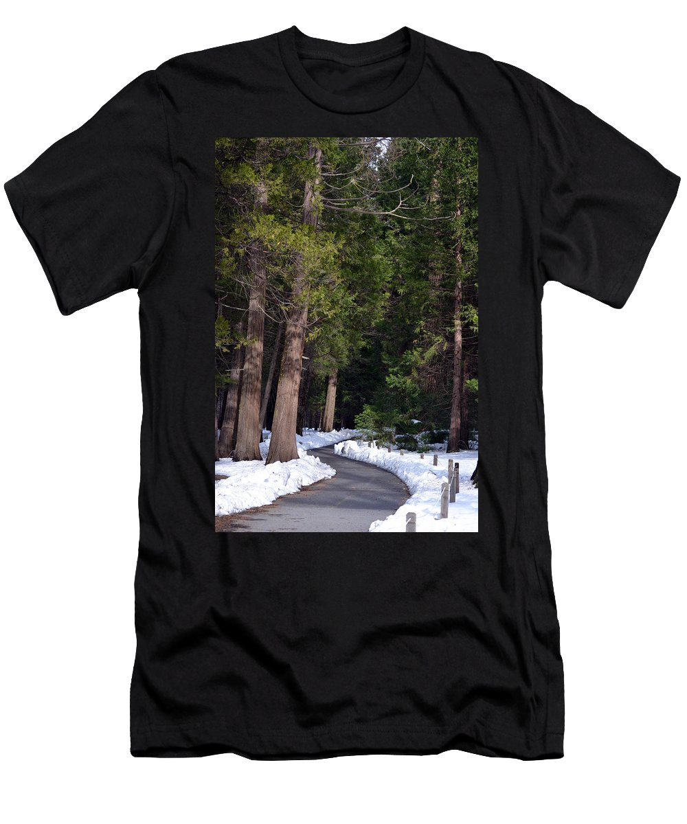 Yosemite Men's T-Shirt (Athletic Fit) featuring the photograph Path To Paradise by Christine Owens