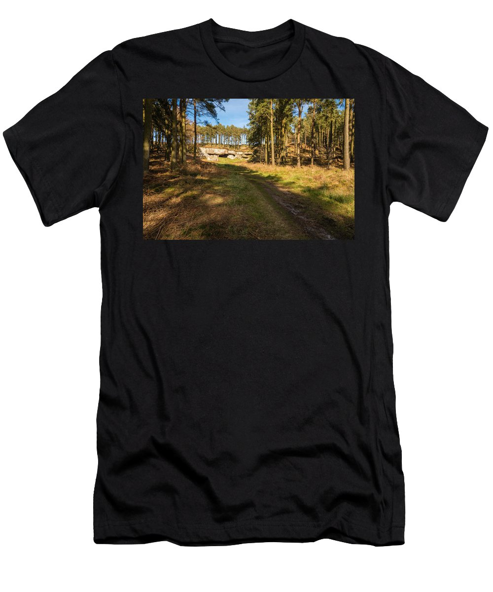 Northumberland Men's T-Shirt (Athletic Fit) featuring the photograph Path To St Cuthbert's Cave by David Head
