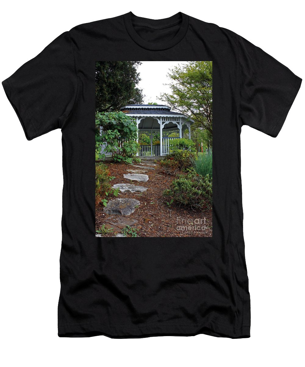Landscape Men's T-Shirt (Athletic Fit) featuring the photograph Path To The Gazebo by Todd Blanchard