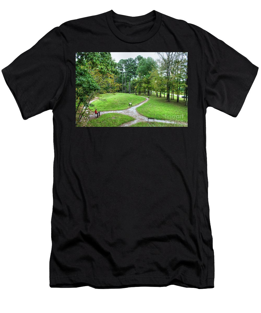 Travel Men's T-Shirt (Athletic Fit) featuring the photograph Path To The Mound by Larry Braun