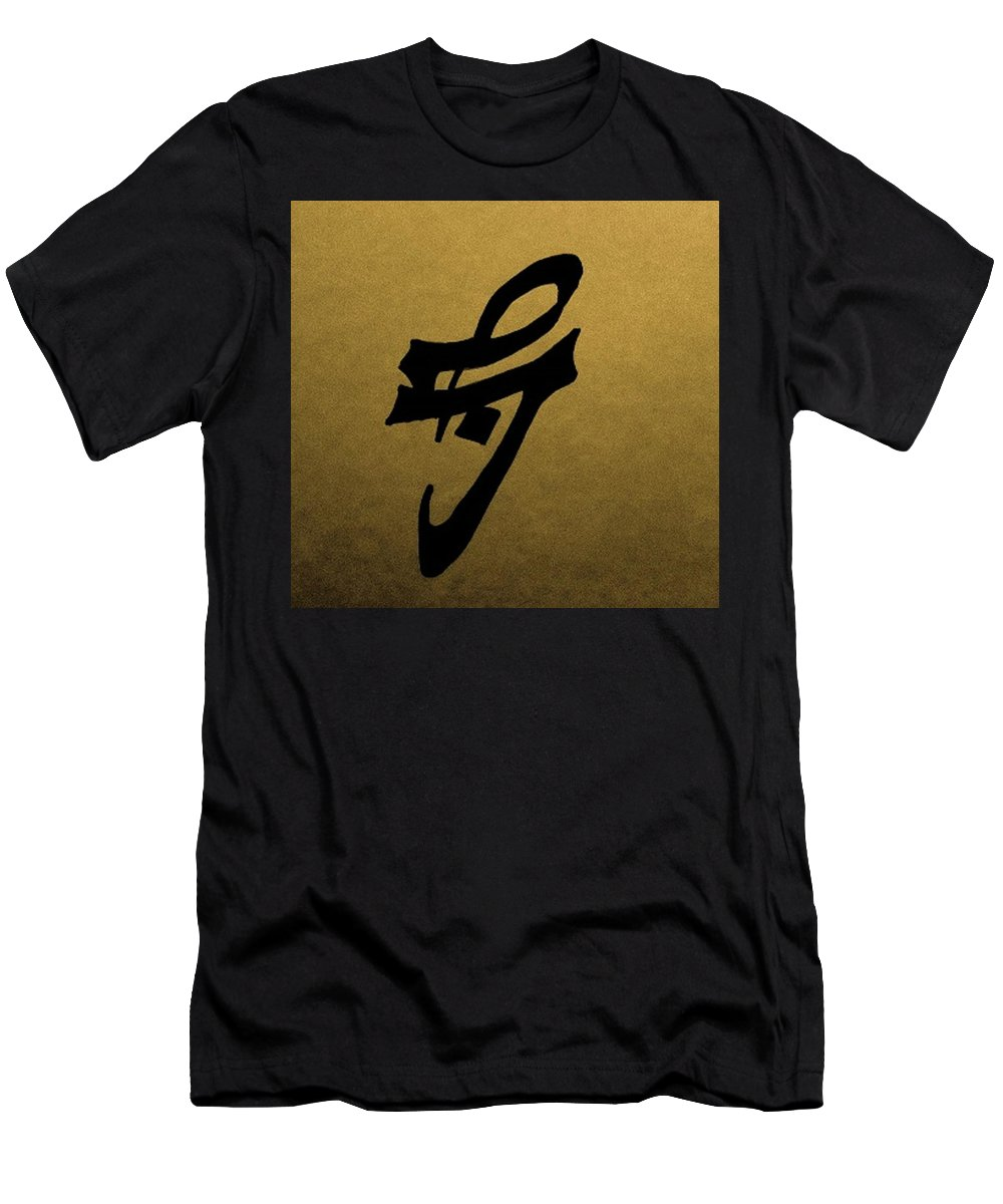 Patience Men's T-Shirt (Athletic Fit) featuring the painting Patience by Jennifer Virtual Arabist