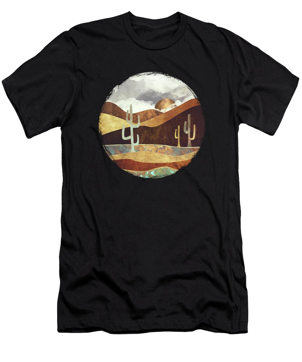 Desert Men's T-Shirt (Athletic Fit) featuring the digital art Patina Desert by Spacefrog Designs