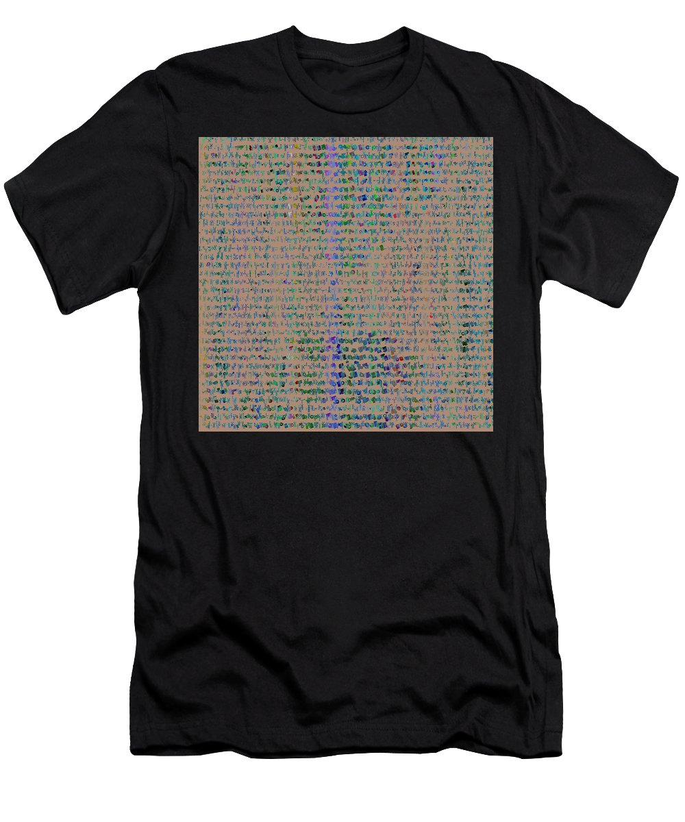 Pattern 102 Men's T-Shirt (Athletic Fit) featuring the digital art Pattern 102 by Marko Sabotin
