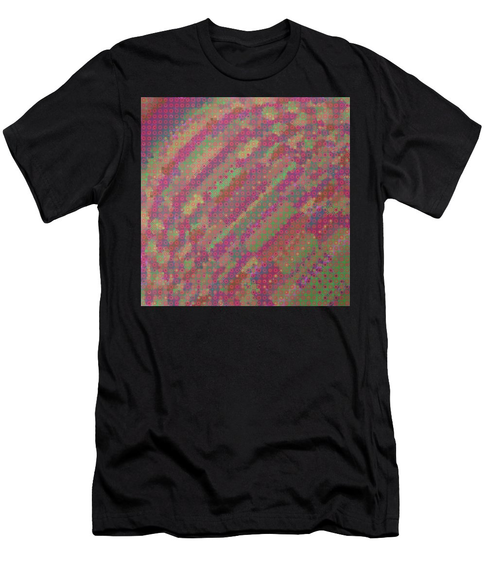 Pattern 109 Men's T-Shirt (Athletic Fit) featuring the digital art Pattern 109 by Marko Sabotin