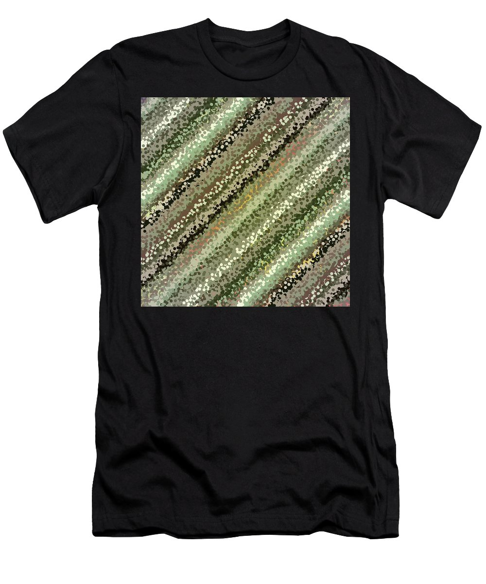 Pattern 111 Men's T-Shirt (Athletic Fit) featuring the digital art Pattern 111 by Marko Sabotin
