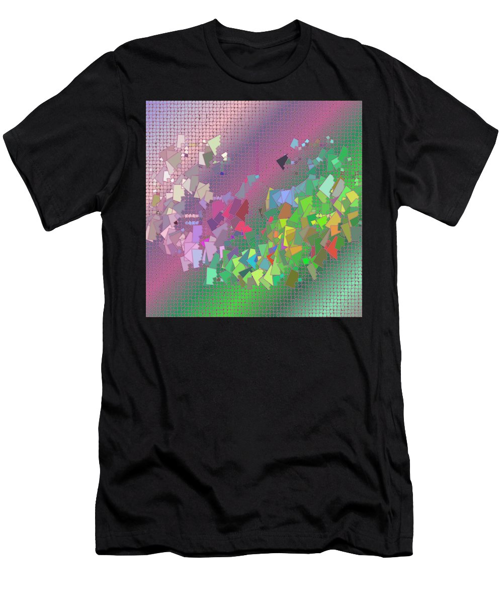 Pattern 121 Men's T-Shirt (Athletic Fit) featuring the digital art Pattern 121 by Marko Sabotin