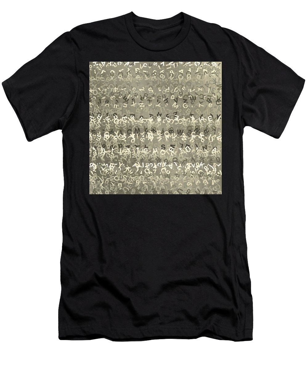 Pattern 71 Men's T-Shirt (Athletic Fit) featuring the digital art Pattern 71 by Marko Sabotin