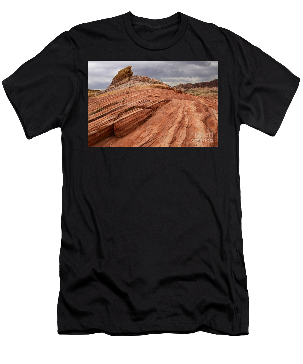 Nevada Men's T-Shirt (Athletic Fit) featuring the photograph Patterns 2 by Bob Christopher