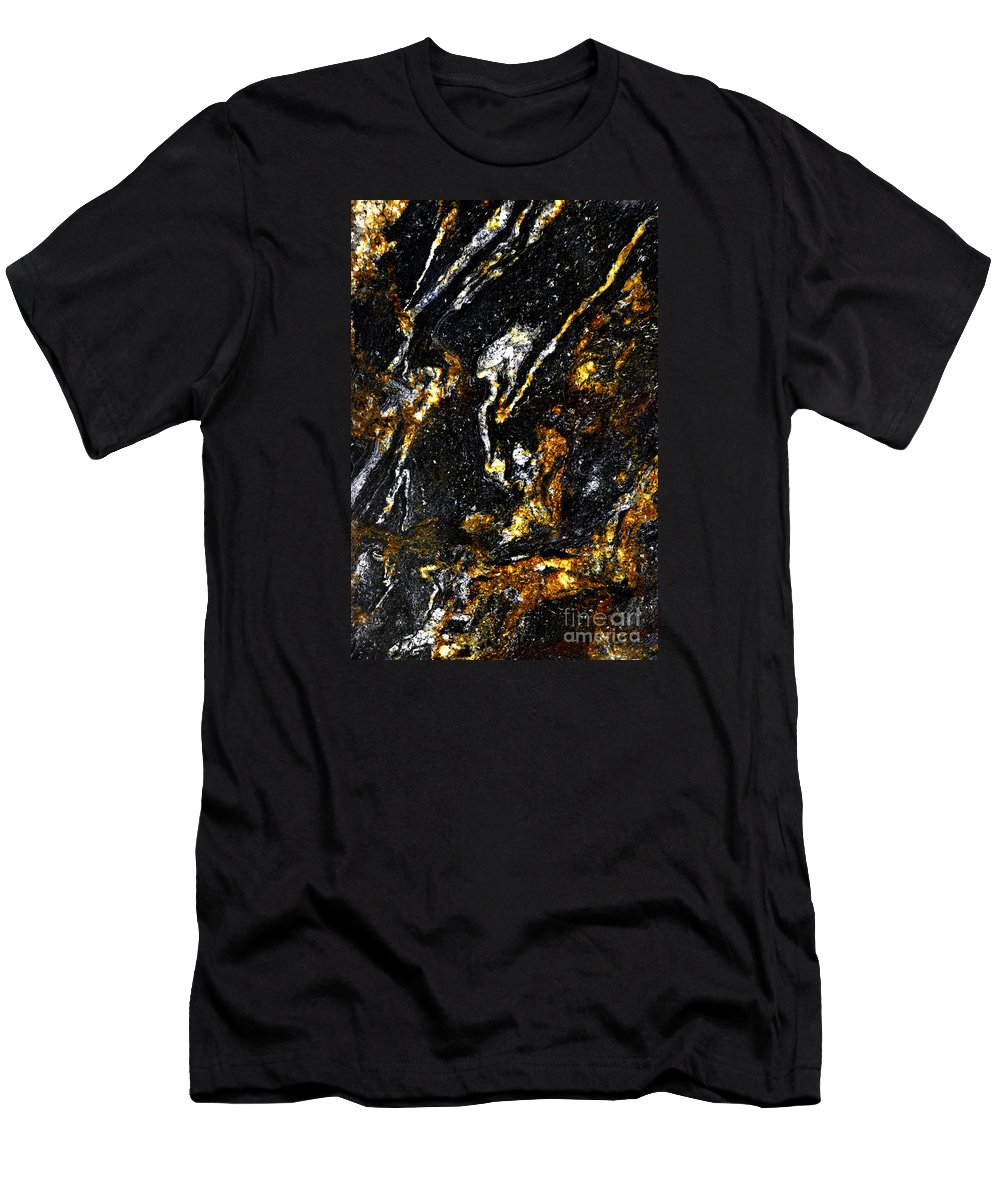 Abstract Men's T-Shirt (Athletic Fit) featuring the photograph Patterns In Stone - 189 by Paul W Faust - Impressions of Light