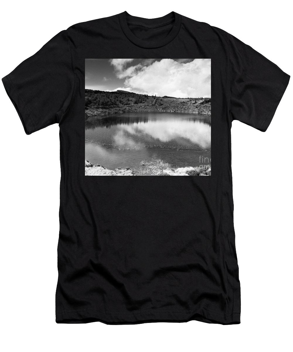 Lake Men's T-Shirt (Athletic Fit) featuring the photograph Pau-pique Lake by Gaspar Avila