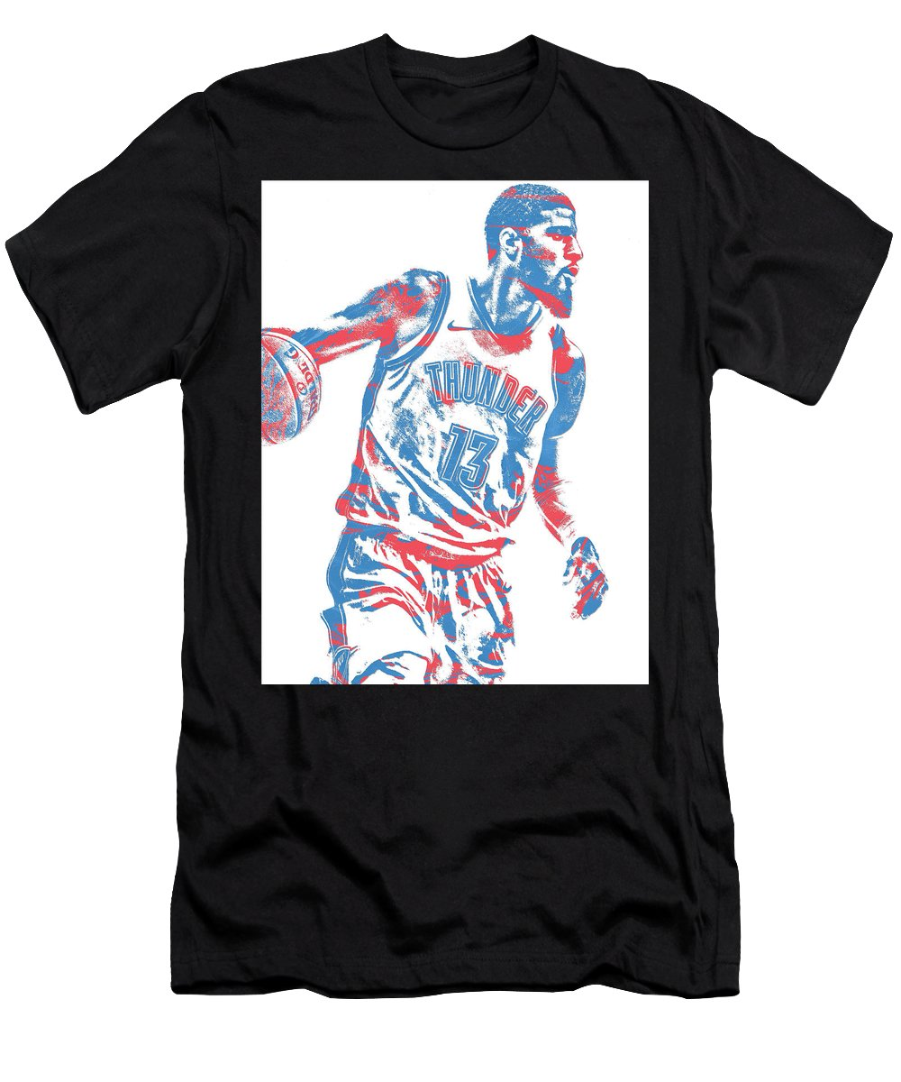 7785194eb Paul George Men s T-Shirt (Athletic Fit) featuring the mixed media Paul  George
