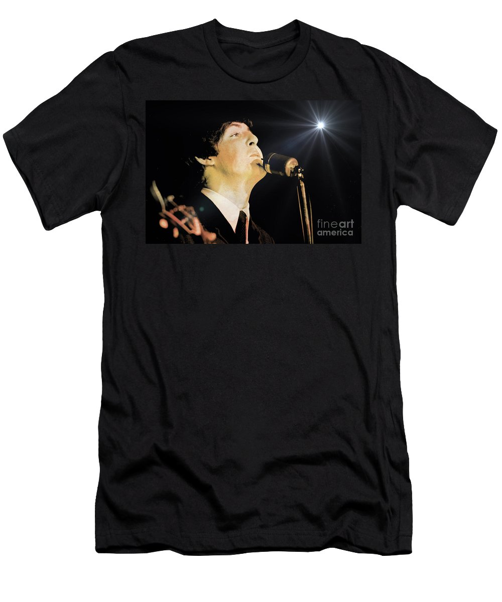 Beatles T-Shirt featuring the photograph Paul McCartney by Larry Mulvehill