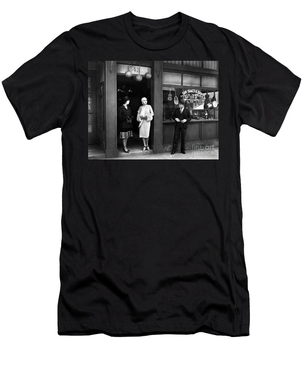 1920s Men's T-Shirt (Athletic Fit) featuring the photograph Pawn Shop, C1925 by Granger