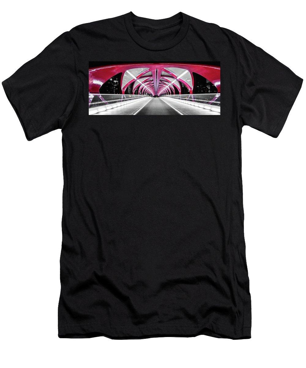 Calgary Men's T-Shirt (Athletic Fit) featuring the photograph Peace Bridge by Cory Huchkowski