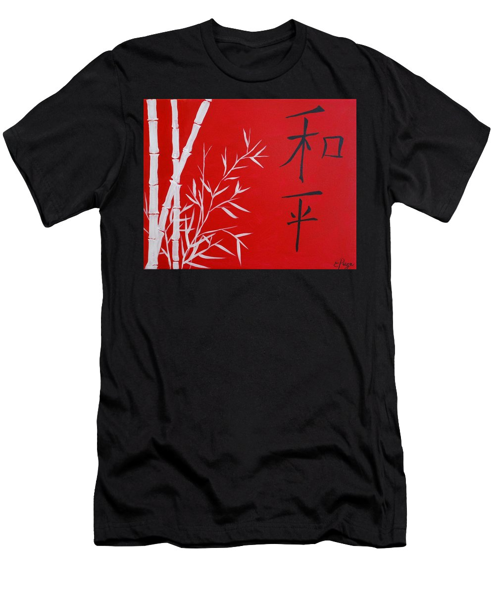 Peace Men's T-Shirt (Athletic Fit) featuring the painting Peace by Emily Page