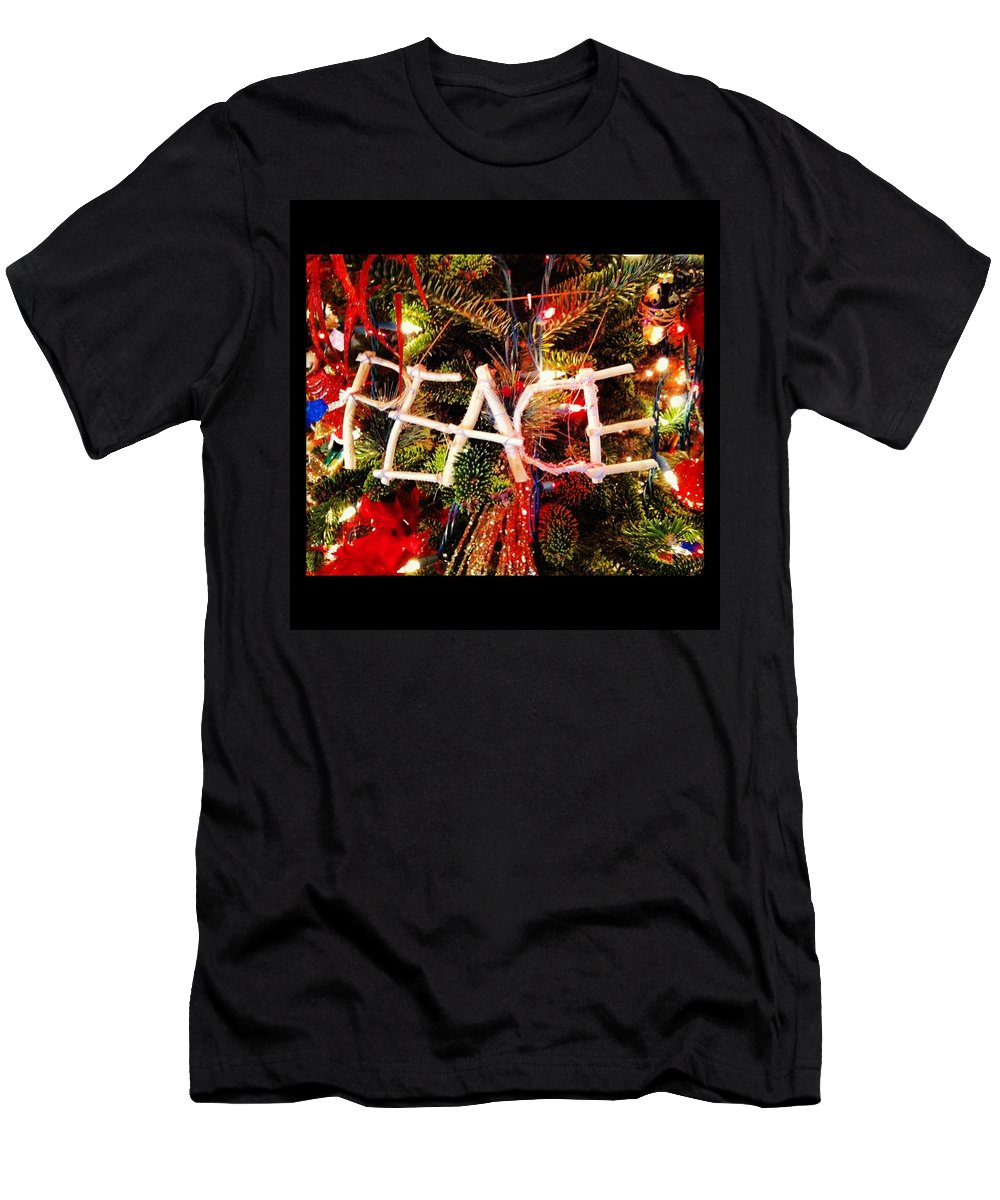 Peace Men's T-Shirt (Athletic Fit) featuring the photograph Peace Ornament by Artie Rawls
