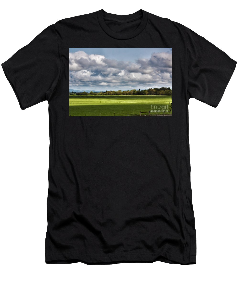 Hdr Men's T-Shirt (Athletic Fit) featuring the photograph Peaceful Morning - Hdr by Janie Johnson