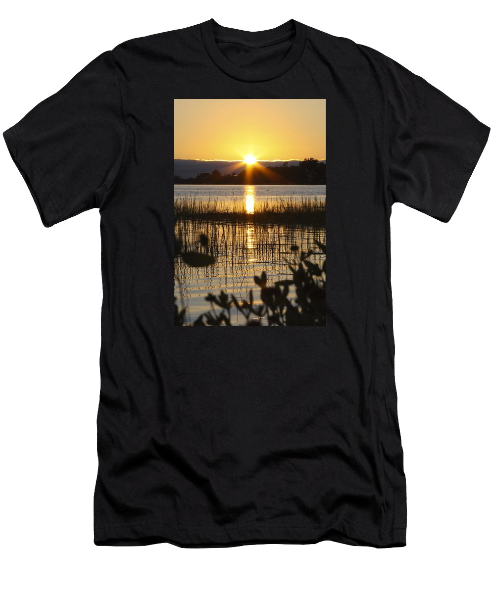 Sunset Men's T-Shirt (Athletic Fit) featuring the photograph Peaceful Sunset by CottonWood