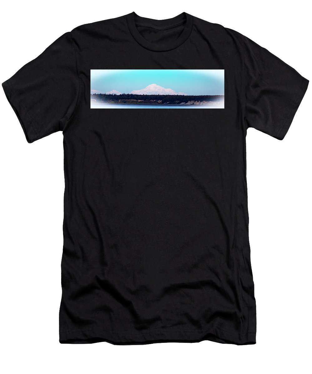Mountain Men's T-Shirt (Athletic Fit) featuring the photograph Peak by Kathy Whitehurst