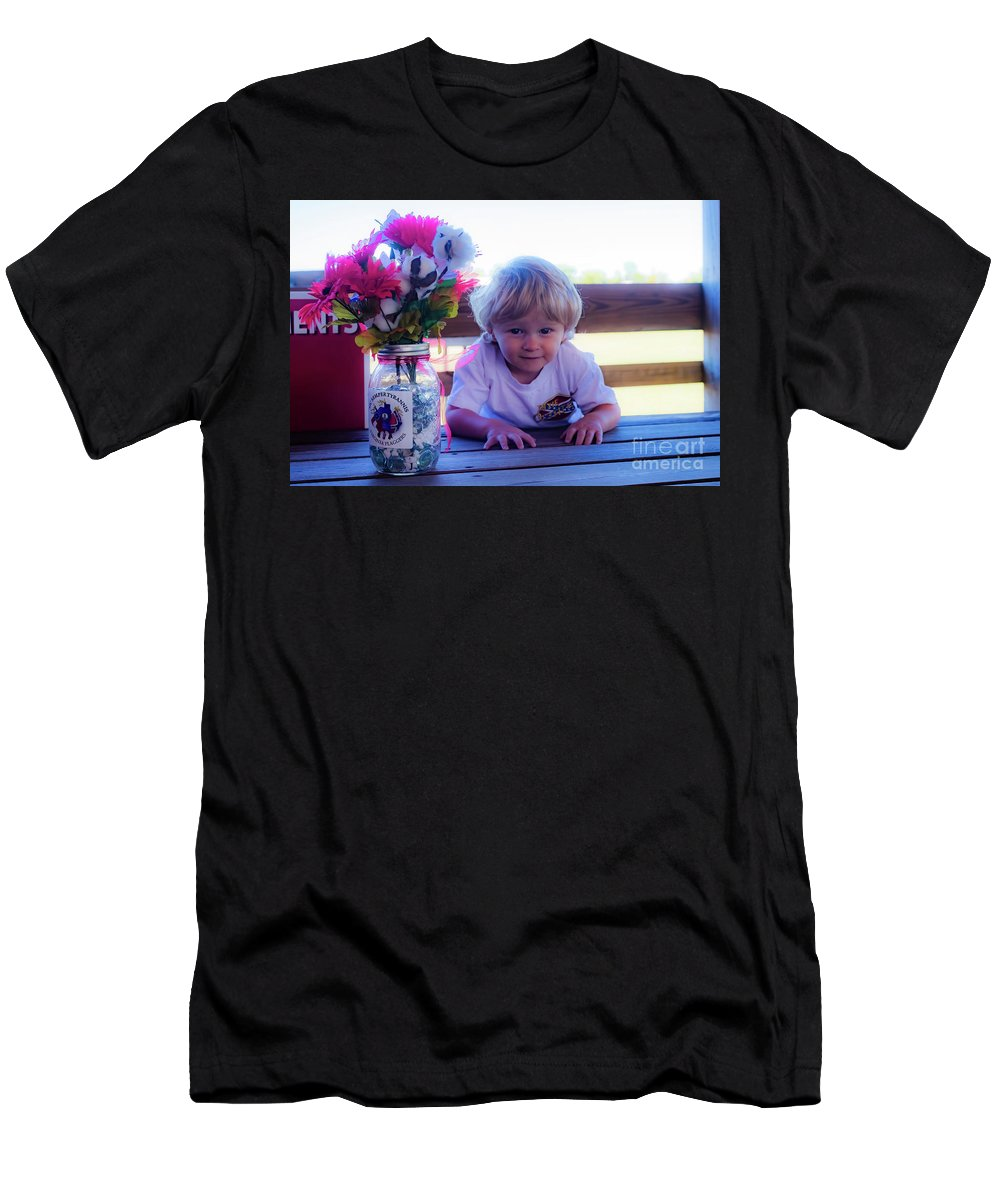Young Male Child Men's T-Shirt (Athletic Fit) featuring the photograph Peanut At 6th Anniversary Va Flaggers 4933 by Doug Berry