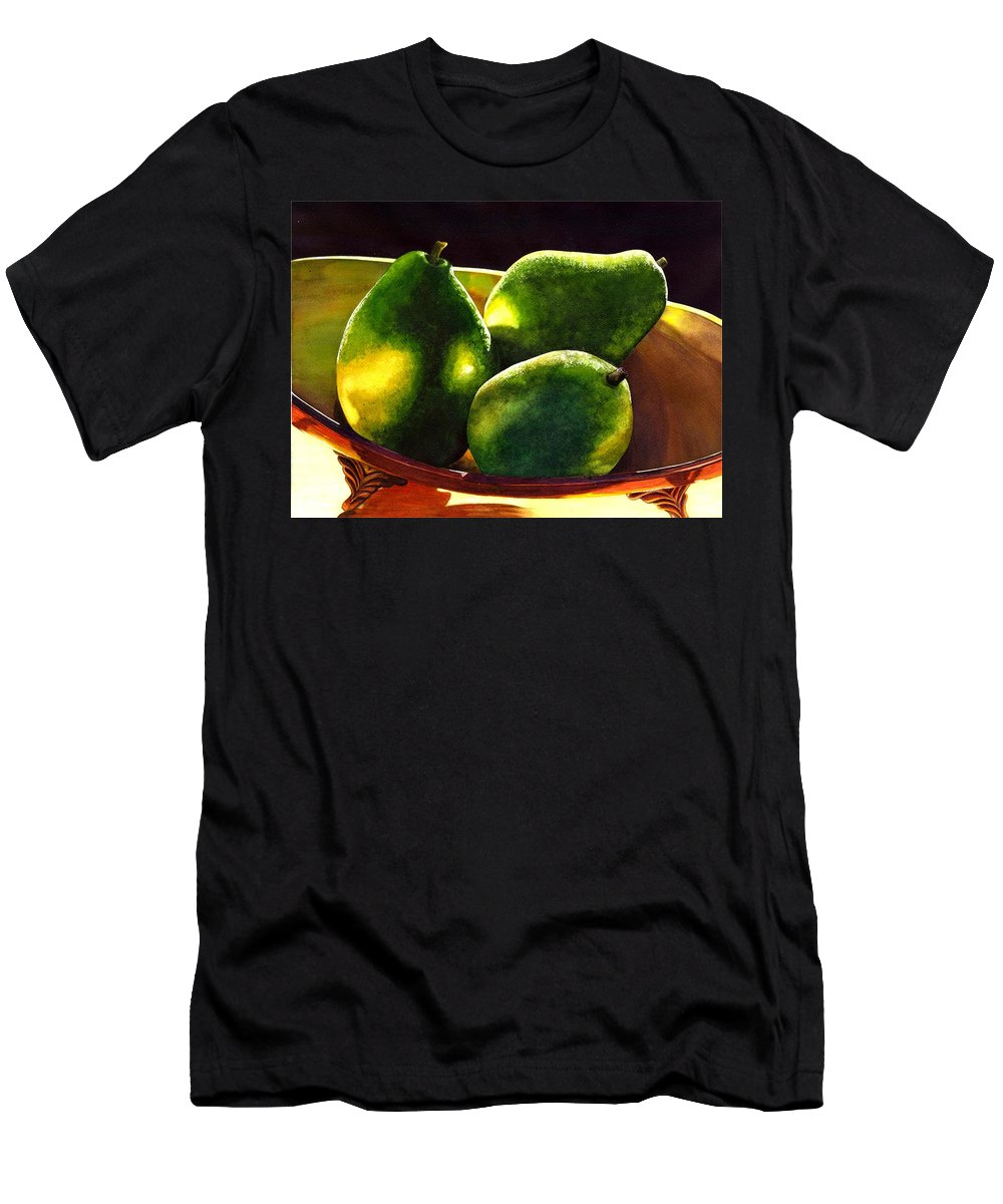 Still Life Men's T-Shirt (Athletic Fit) featuring the painting Pears No 2 by Catherine G McElroy