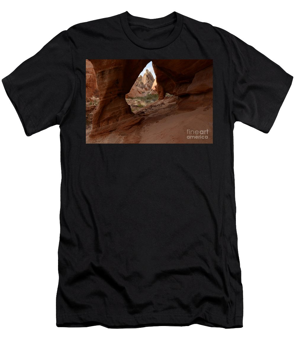 Nevada Men's T-Shirt (Athletic Fit) featuring the photograph Peek A Boo by Bob Christopher