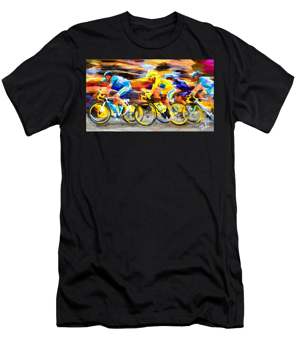 Art By Sachse Men's T-Shirt (Athletic Fit) featuring the digital art Pelaton Six by Tom Sachse