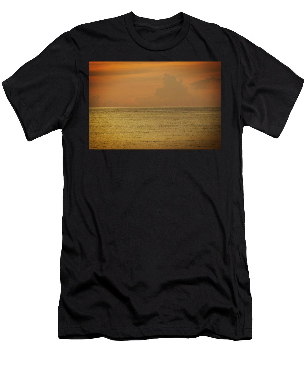 Sky Men's T-Shirt (Athletic Fit) featuring the photograph Pelican In The Sea by Mayra Pau