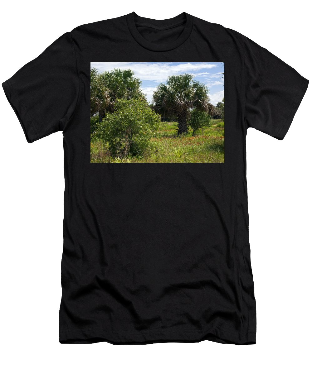 Florida Men's T-Shirt (Athletic Fit) featuring the photograph Pelican Island Nwr In Florida by Allan Hughes