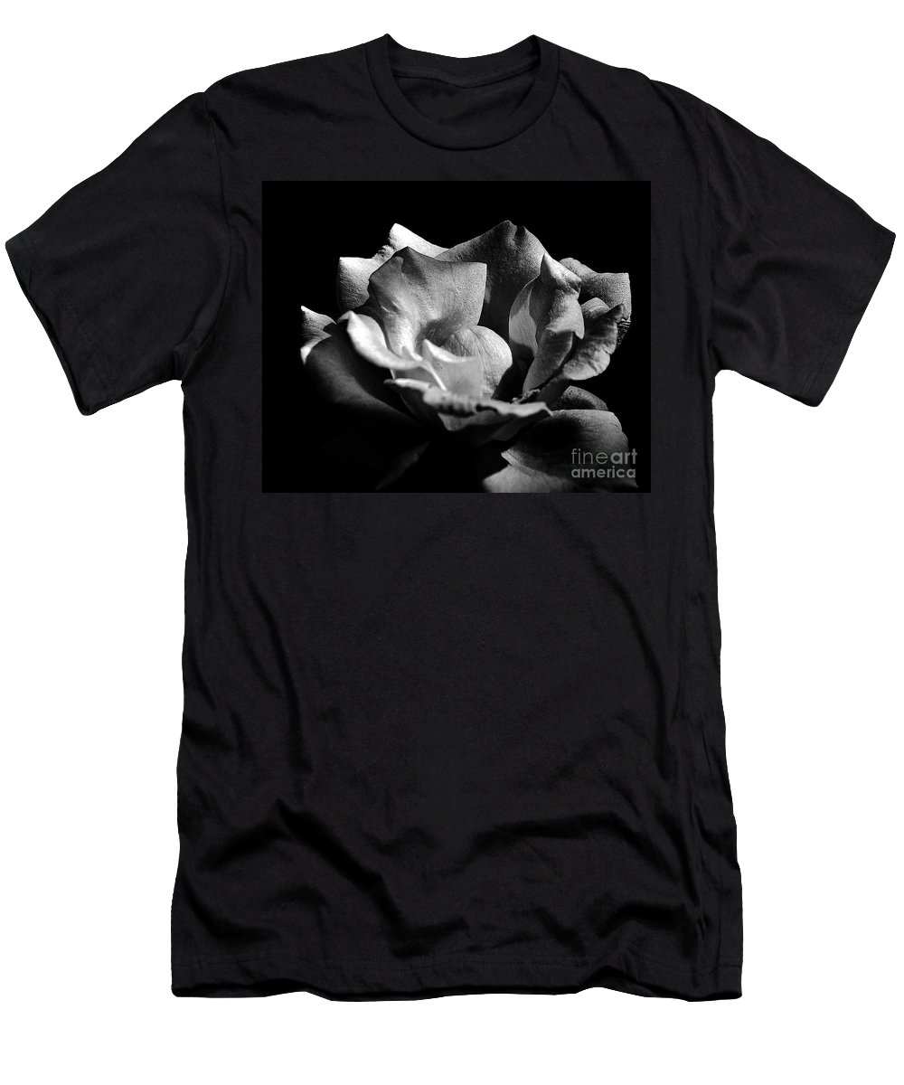 Clay Men's T-Shirt (Athletic Fit) featuring the photograph Penetrating The Rose by Clayton Bruster