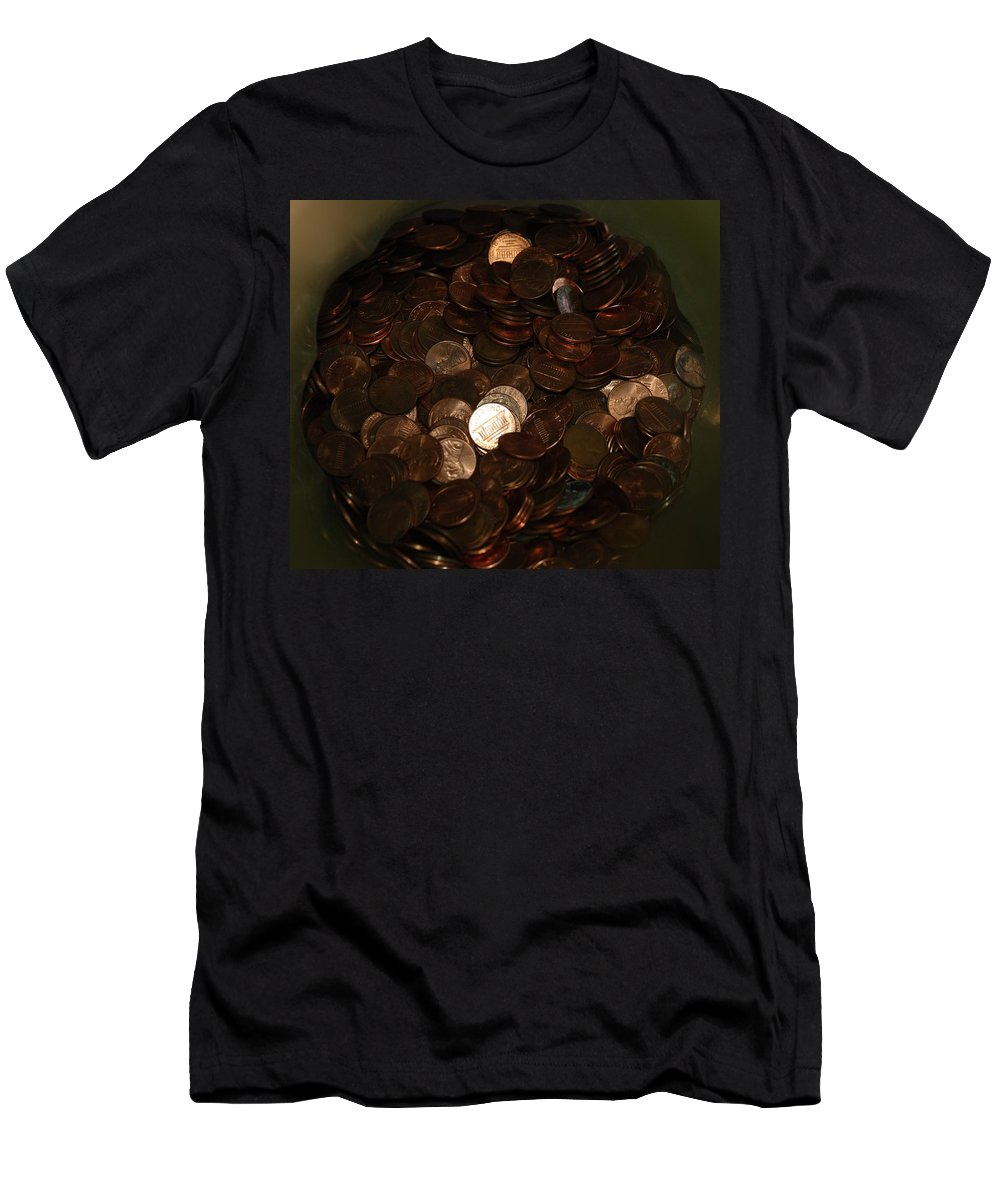 Pennies Men's T-Shirt (Athletic Fit) featuring the photograph Pennies by Rob Hans