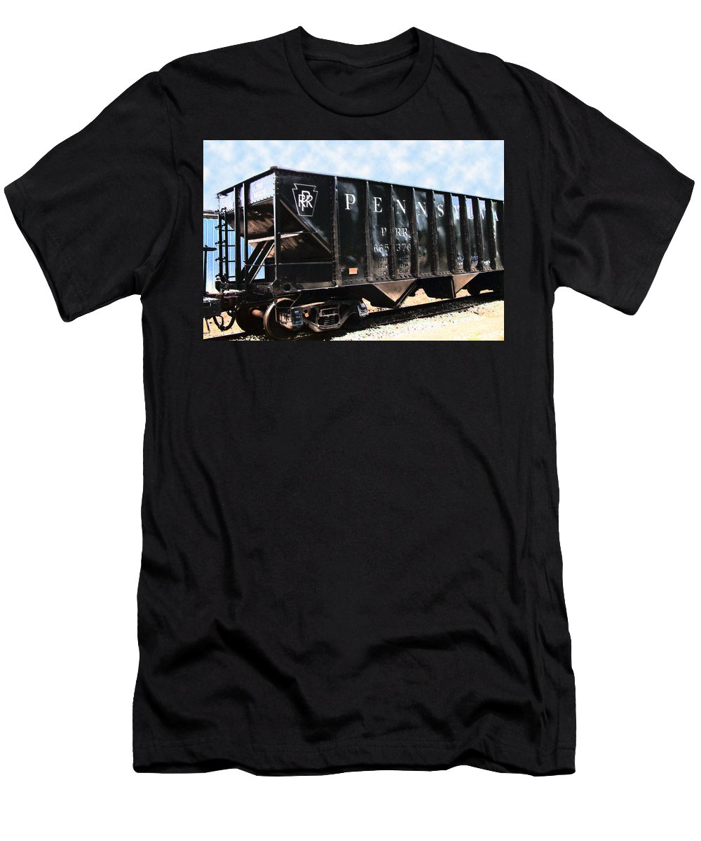 Trains Men's T-Shirt (Athletic Fit) featuring the photograph Pennsylvania Hopper by RC DeWinter