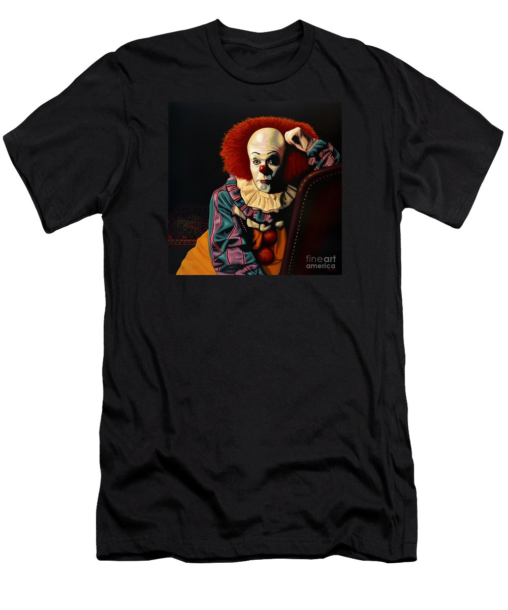 Pennywise T-Shirt featuring the painting Pennywise by Paul Meijering