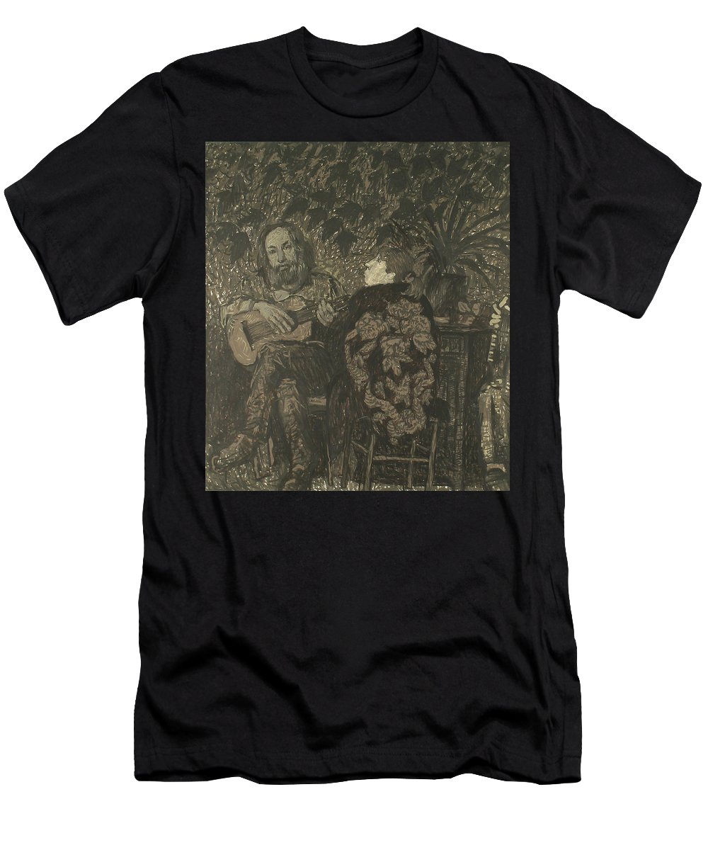 People Men's T-Shirt (Athletic Fit) featuring the painting Three Persons by Robert Nizamov