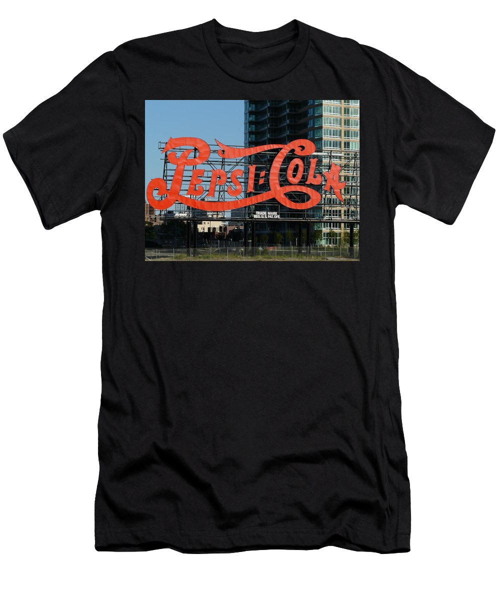 New York Men's T-Shirt (Athletic Fit) featuring the photograph Pepsi-cola by Valerie Ornstein