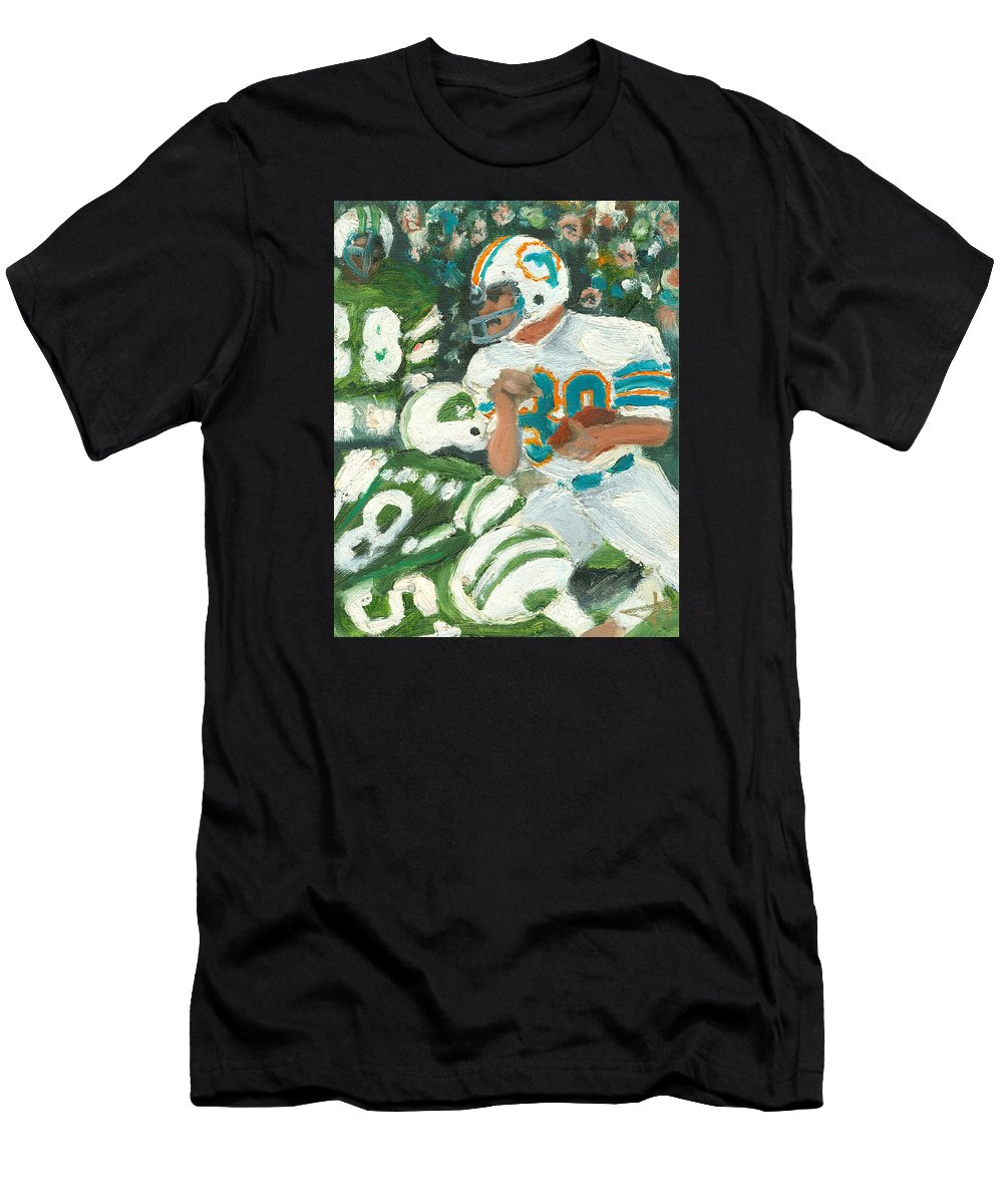 Miami Men's T-Shirt (Athletic Fit) featuring the painting Perfect39 by Jorge Delara