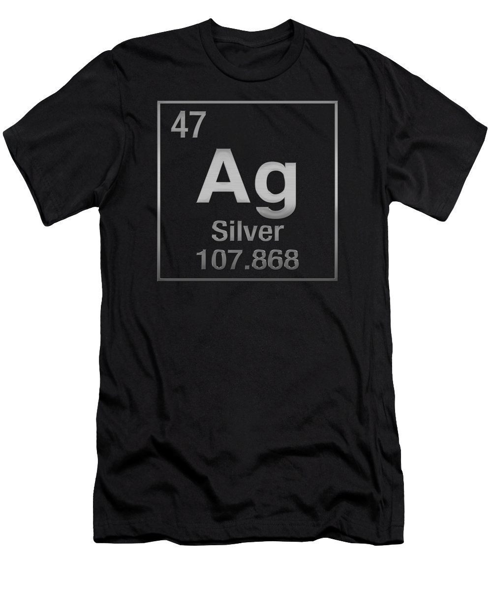 Periodic table of elements silver ag silver on black t shirt periodic table of elements silver ag silver on black t shirt for sale by serge averbukh gamestrikefo Gallery