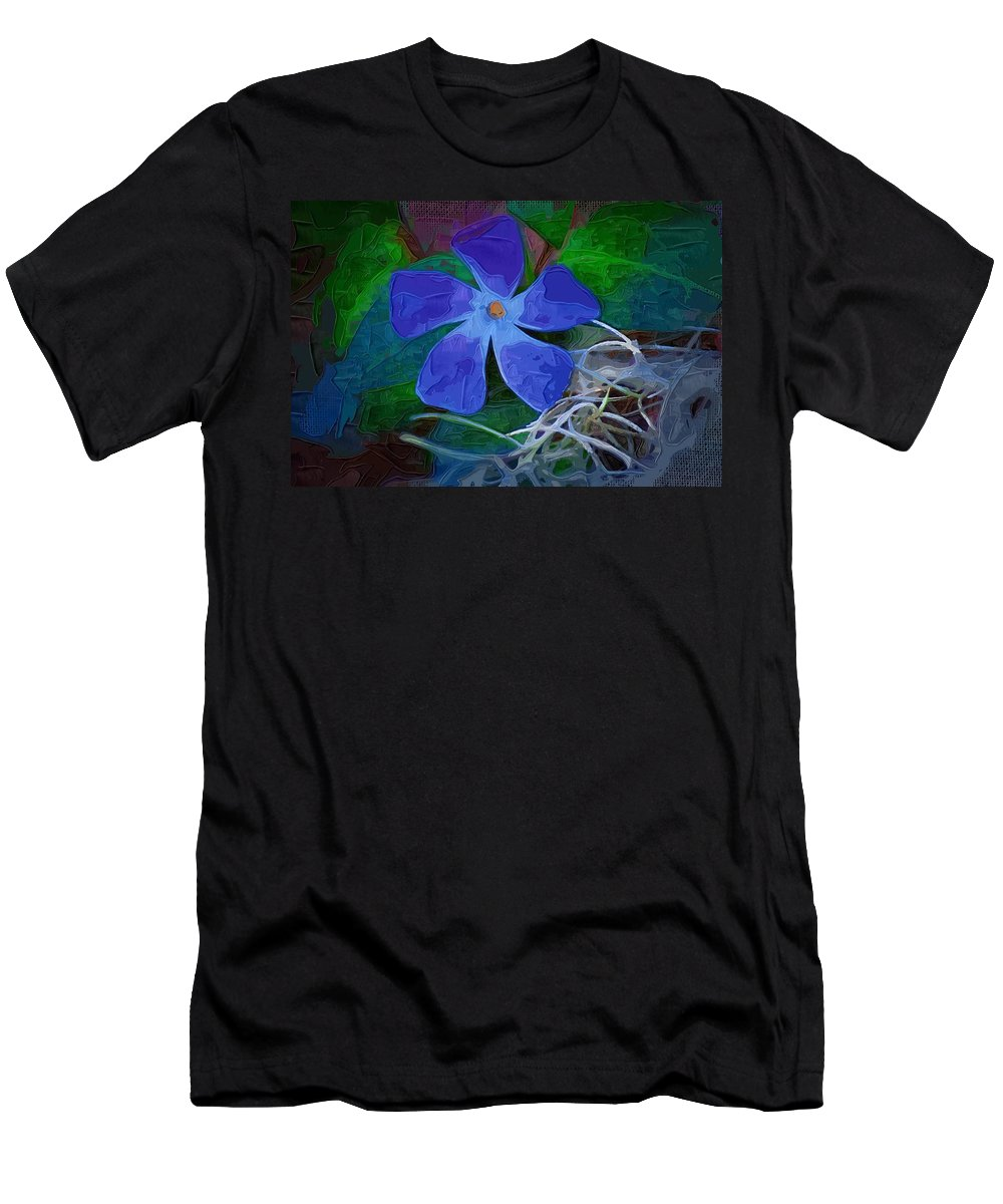 Flower Men's T-Shirt (Athletic Fit) featuring the digital art Periwinkle Blue by Donna Bentley