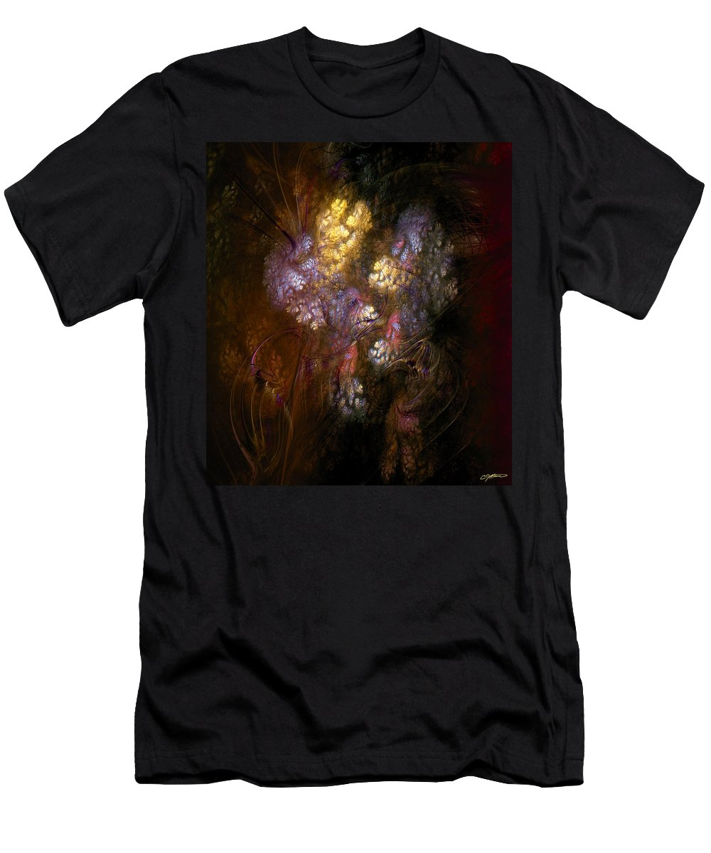 Abstract Men's T-Shirt (Athletic Fit) featuring the digital art Perturbations by Casey Kotas