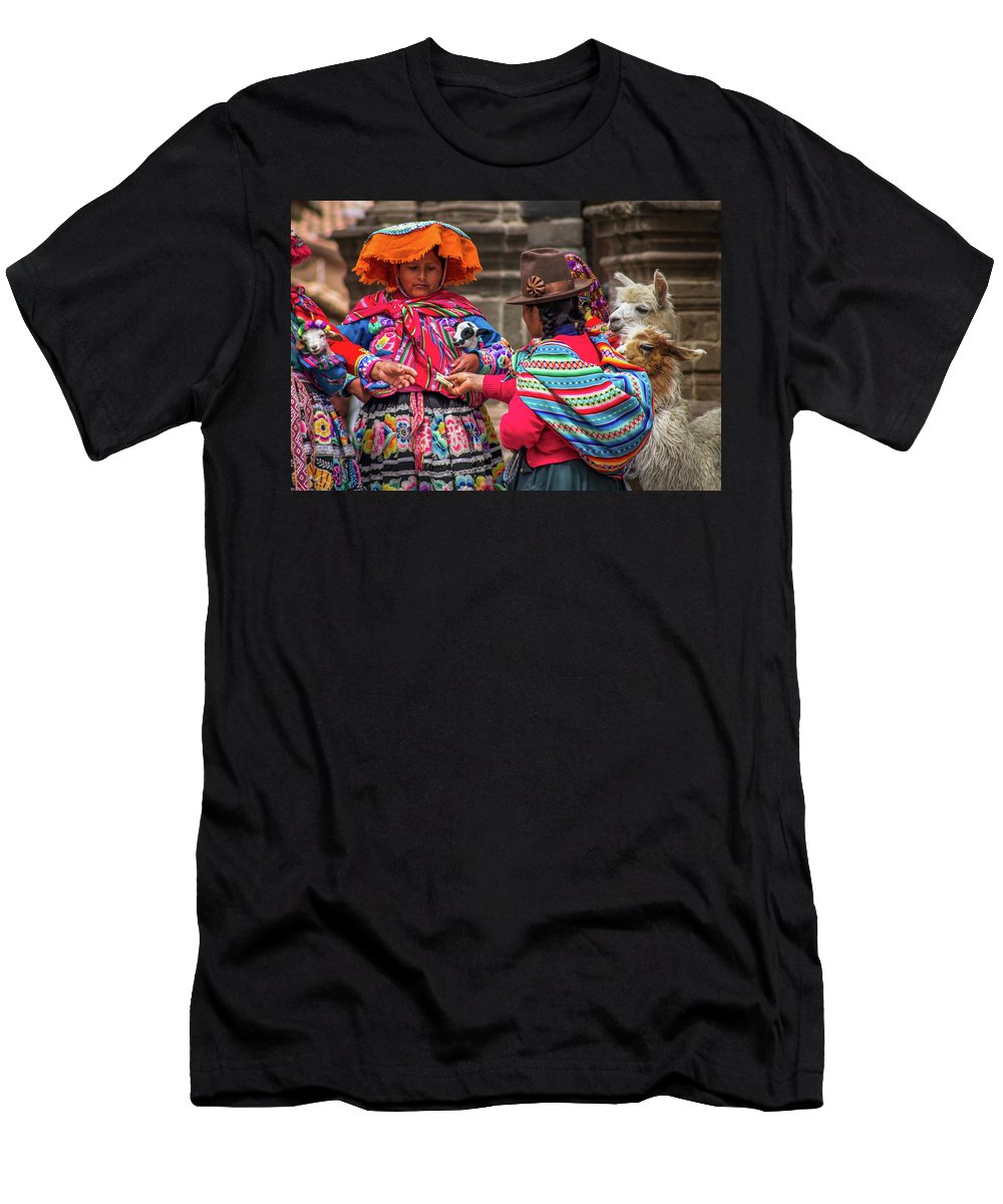 Garment Men's T-Shirt (Athletic Fit) featuring the photograph Peruvian Costume by Mao Lopez