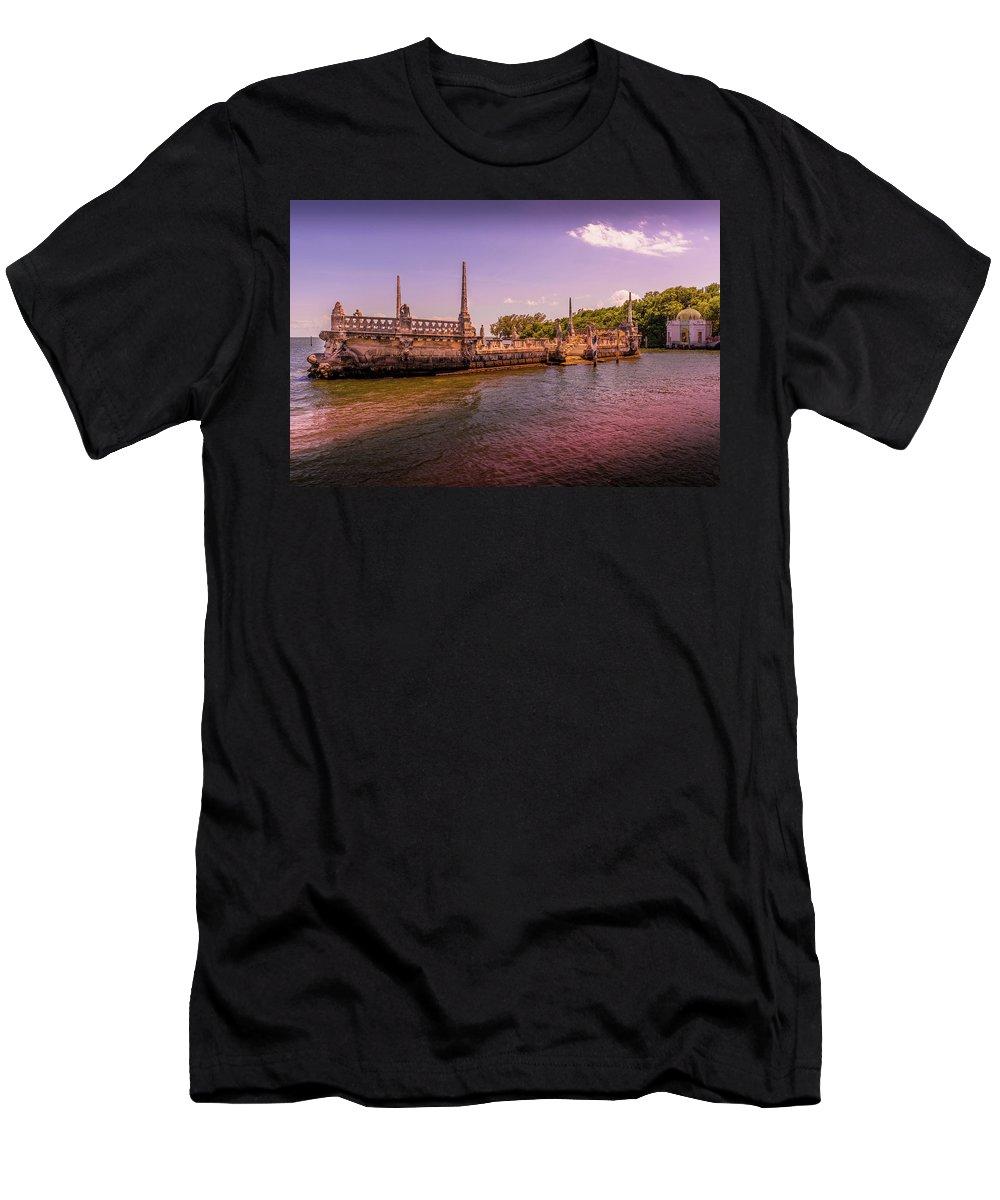 Vizcaya Men's T-Shirt (Athletic Fit) featuring the photograph Petrified Sunset by Vincent Asbjornsen