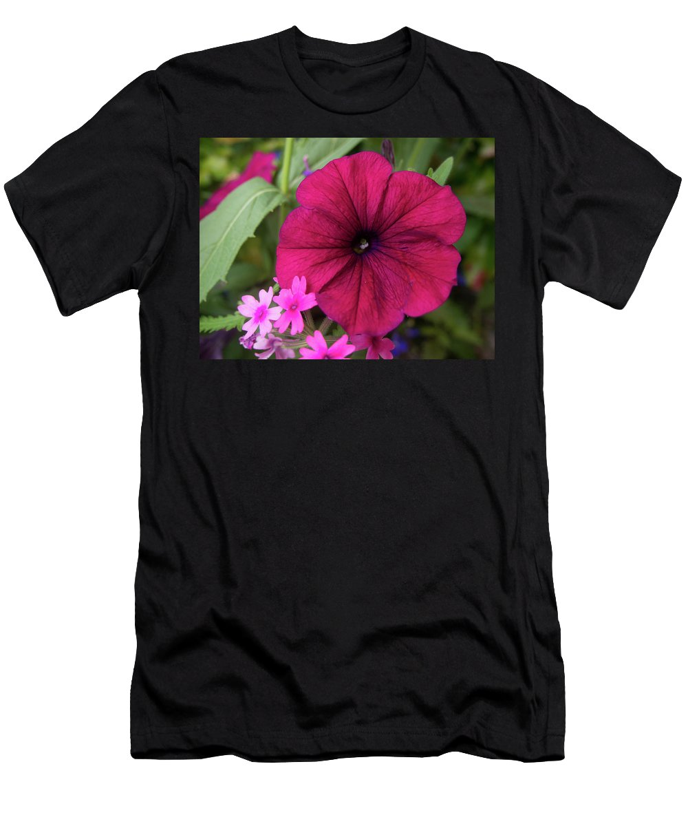 Flower Men's T-Shirt (Athletic Fit) featuring the photograph Petunia by Kathy Benham