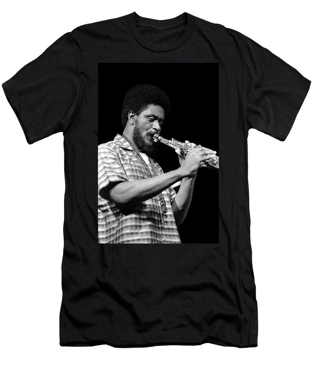 Pharoah Sanders Men's T-Shirt (Athletic Fit) featuring the photograph Pharoah Sanders 3 by Lee Santa