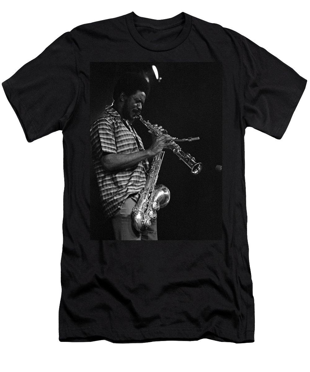 Pharoah Sanders Men's T-Shirt (Athletic Fit) featuring the photograph Pharoah Sanders 4 by Lee Santa